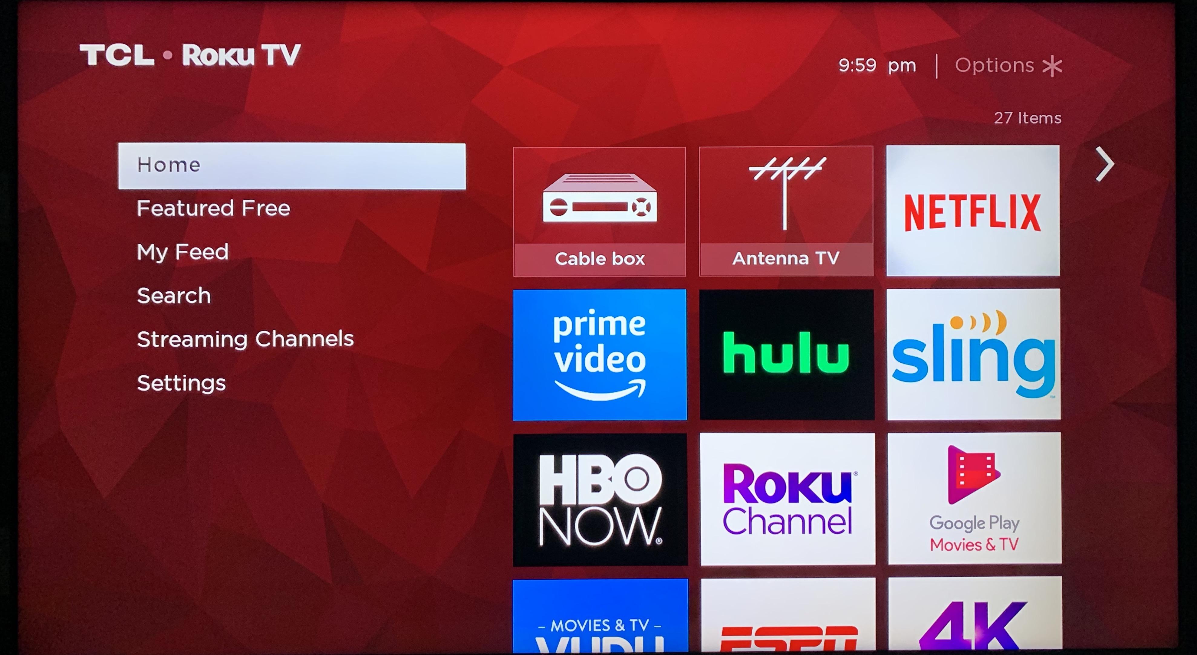 电视自带的Roku TV